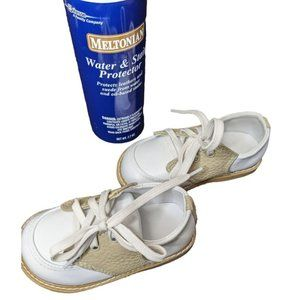 Kids Boys White Leather Lace Up Dress Shoes Size 5